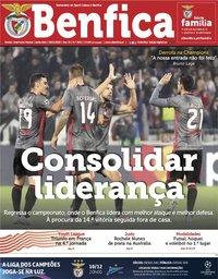 capa Jornal Benfica de 8 novembro 2019
