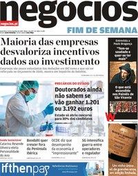 capa Jornal de Negócios de 22 novembro 2019