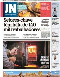 capa Jornal de Notícias de 1 novembro 2019