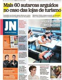 capa Jornal de Notícias de 2 novembro 2019