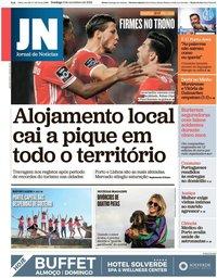 capa Jornal de Notícias de 3 novembro 2019