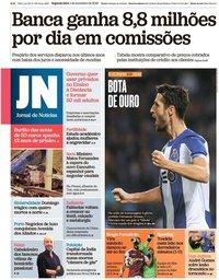 capa Jornal de Notícias de 4 novembro 2019