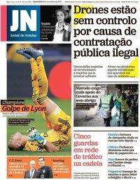 capa Jornal de Notícias de 6 novembro 2019