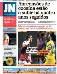 capa Jornal de Notícias de 8 novembro 2019