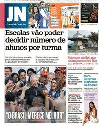 capa Jornal de Notícias de 9 novembro 2019