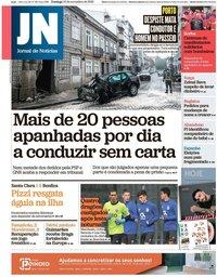 capa Jornal de Notícias de 10 novembro 2019