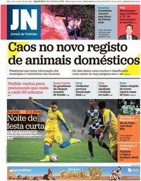 capa Jornal de Notícias de 11 novembro 2019