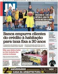 capa Jornal de Notícias de 13 novembro 2019