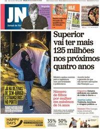 capa Jornal de Notícias de 16 novembro 2019