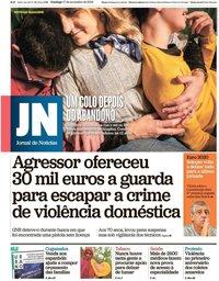 capa Jornal de Notícias de 17 novembro 2019