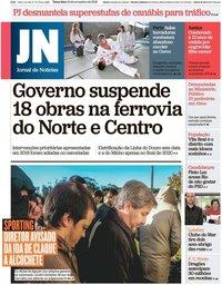 capa Jornal de Notícias de 19 novembro 2019