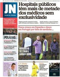 capa Jornal de Notícias de 21 novembro 2019