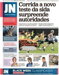 capa Jornal de Notícias de 23 novembro 2019