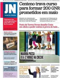 capa Jornal de Notícias de 26 novembro 2019