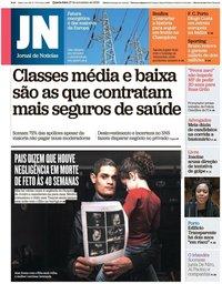 capa Jornal de Notícias de 27 novembro 2019