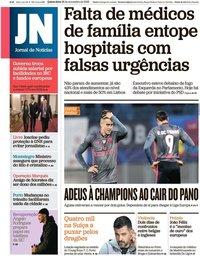 capa Jornal de Notícias de 28 novembro 2019