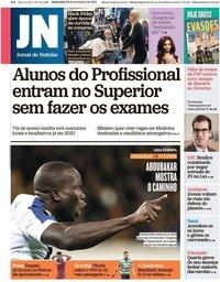 capa Jornal de Notícias de 29 novembro 2019