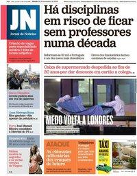capa Jornal de Notícias de 30 novembro 2019