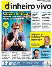 capa Jornal Dinheiro Vivo de 2 novembro 2019