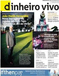 capa Jornal Dinheiro Vivo de 9 novembro 2019