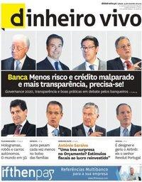 capa Jornal Dinheiro Vivo de 23 novembro 2019