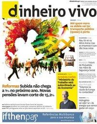 capa Jornal Dinheiro Vivo de 30 novembro 2019