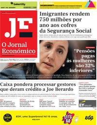 capa Jornal Económico de 1 novembro 2019