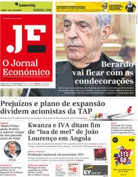 capa Jornal Económico de 29 novembro 2019