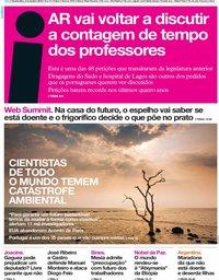 capa Jornal i de 6 novembro 2019