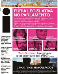 capa Jornal i de 7 novembro 2019