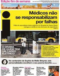 capa Jornal i de 8 novembro 2019