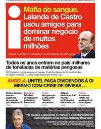 capa Jornal i de 13 novembro 2019
