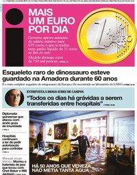capa Jornal i de 14 novembro 2019