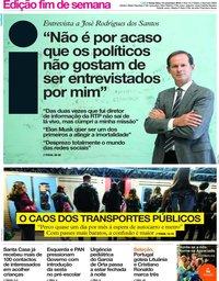 capa Jornal i de 15 novembro 2019
