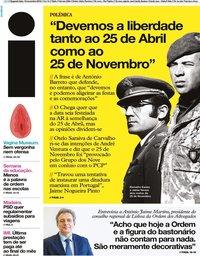 capa Jornal i de 18 novembro 2019