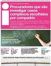 capa Jornal i de 19 novembro 2019