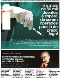 capa Jornal i de 20 novembro 2019