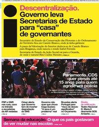 capa Jornal i de 21 novembro 2019