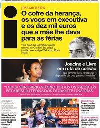 capa Jornal i de 25 novembro 2019