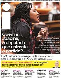 capa Jornal i de 26 novembro 2019