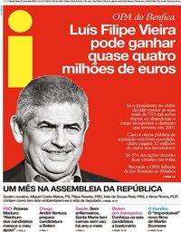 capa Jornal i de 27 novembro 2019