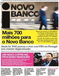 capa Jornal i de 28 novembro 2019