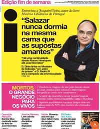 capa Jornal i de 29 novembro 2019