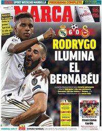 capa Jornal Marca de 7 novembro 2019