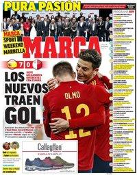 capa Jornal Marca de 16 novembro 2019