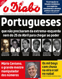 capa Jornal O Diabo de 1 novembro 2019