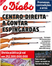 capa Jornal O Diabo de 8 novembro 2019