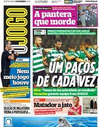 capa Jornal O Jogo de 1 novembro 2019