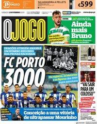 capa Jornal O Jogo de 2 novembro 2019