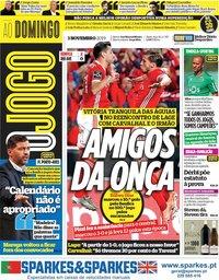 capa Jornal O Jogo de 3 novembro 2019